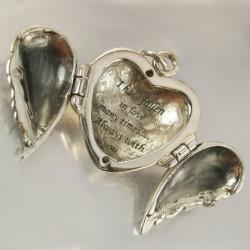 """Heart Locket """"Angel Wings"""""""