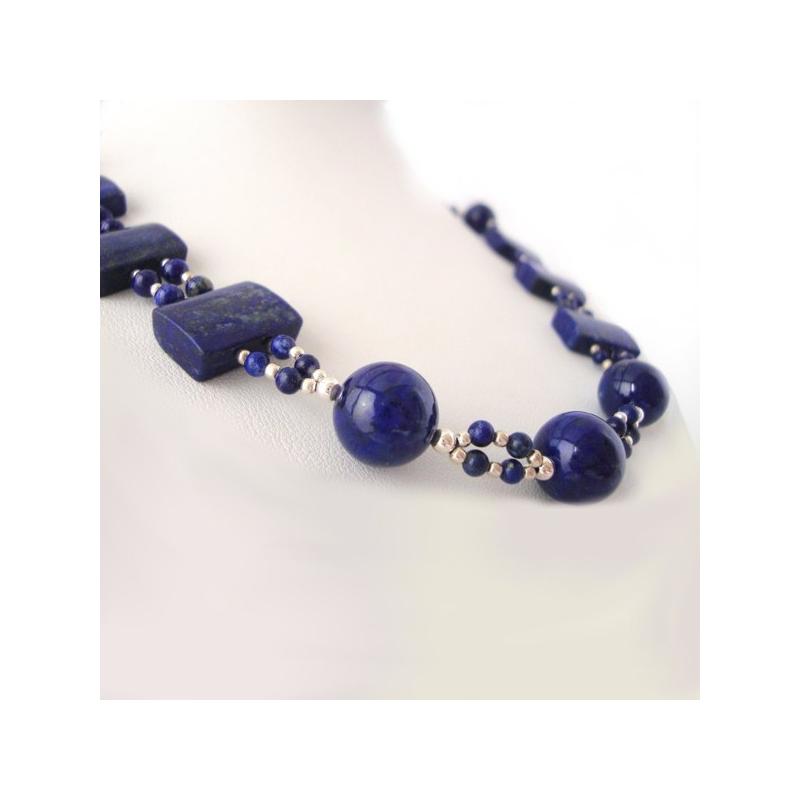 "Collar ""Esferas Celestiales"" Lapislázuli"