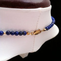 "Necklace ""Bars and Beads"" Lapis lazuli and Goldfilled"