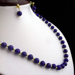 """Lapis lazuli and Gold filled Beads"" SET 7mm"