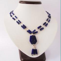 "Necklace Lapis lazuli ""Fluid Geometry"""