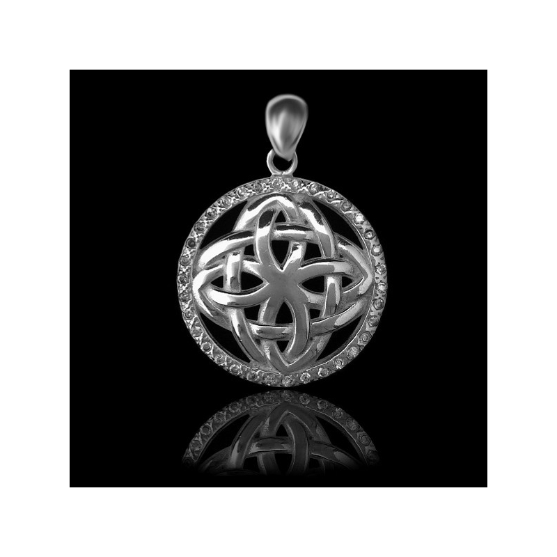"Pendant ""Celtic Interlaced"" with Zircon"