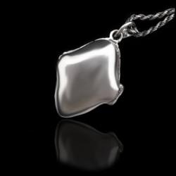 """Relicario """"Forma Diamante"""" Onix & Marcasitas"""