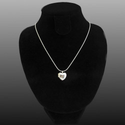 """""""Petite Amelia"""" Heart locket with Cz stone different colors"""