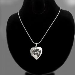 """Fly away!"" locket heart shape with a butterfly"