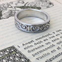 """Anello """"Romanov"""" artigianale fatto a mano in argento"""