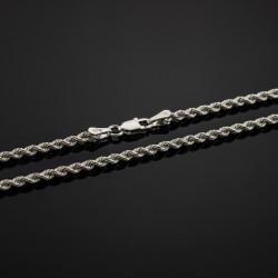 cadena cordon plata sólida de ley 925