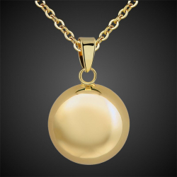 Pregnancy Bola pendant, Angel caller, Golden Navel of the Angels big