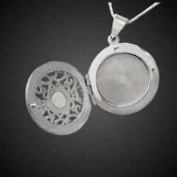 """""""Reine Elsa"""" pendentif médaillon en argent massif 925"""