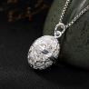 Pregnancy Bola pendant, Angel caller, Forget-me-not flowers egg shaped pendant