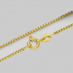 """Veneciana Caja"" dorada cadena"