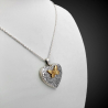 """""""Butterfly affection"""" heart-shaped photo locket pendant in sterling silver 925"""