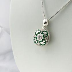 """""""Trèfle chanceux """" pendentif porte-photo  en argent massif 925"""""""