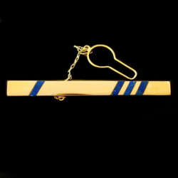 """18K Gold & Lapis lazuli"" Tie bar clip Exclusive"