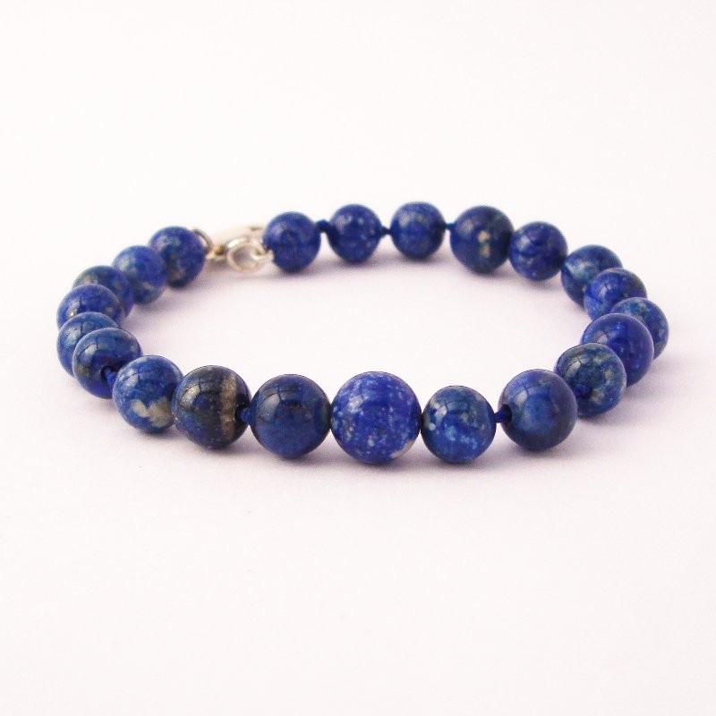 """Lapis lazuli Beaded"" Bracelet, Medium"