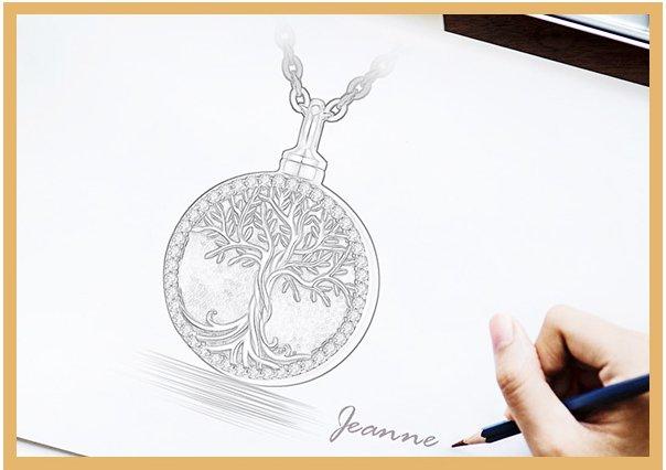 Tree of life keepsake pendant silver