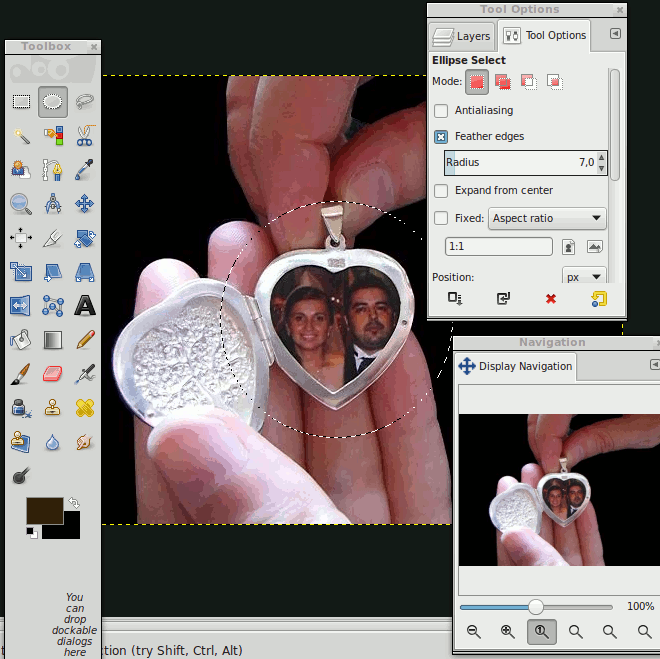 Photo adjustment for locket